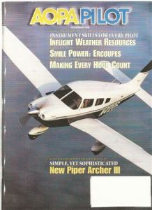 cover of AOPA Pilot magazine