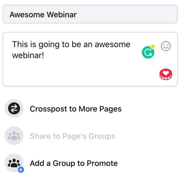 Facebook Live Webinar
