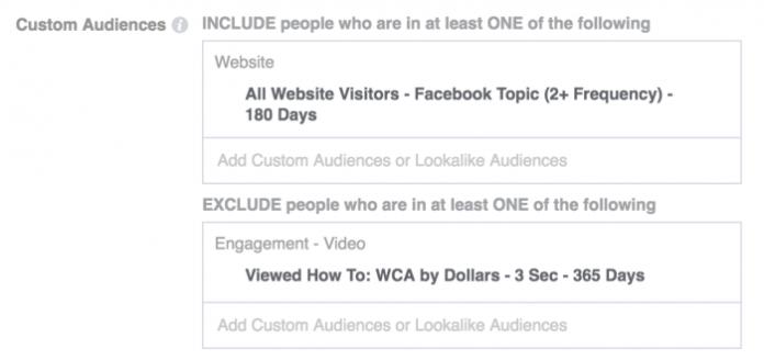 Facebook Video Targeting