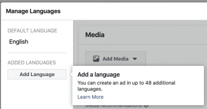 Facebook Ads Automatic Translation