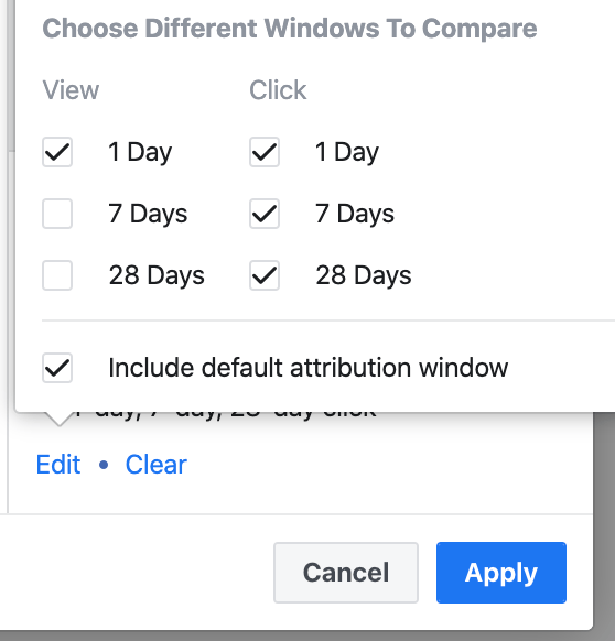 Facebook Ads Attribution Window