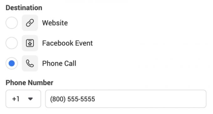 Phone Call Destination