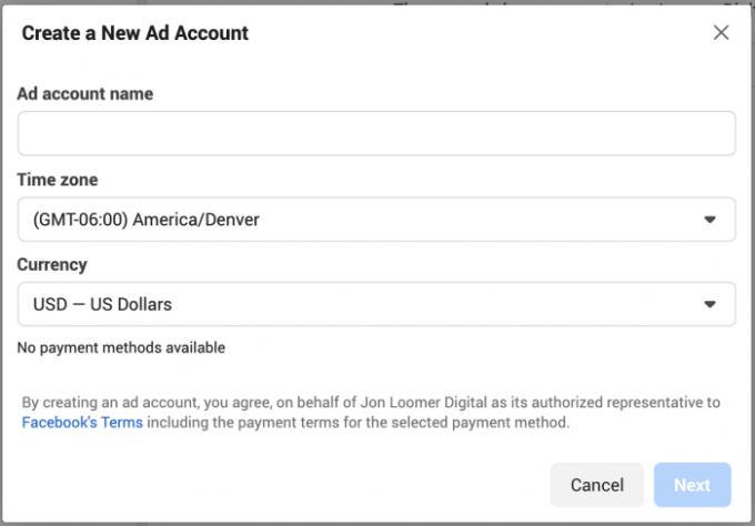 Facebook Ad Account Creation Limit