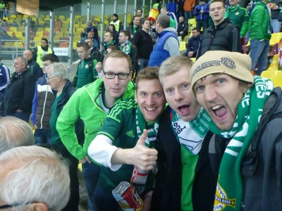 Ian McKinney and I in Romania in 2014 with David Watson and Colin Bowles. GAWA!