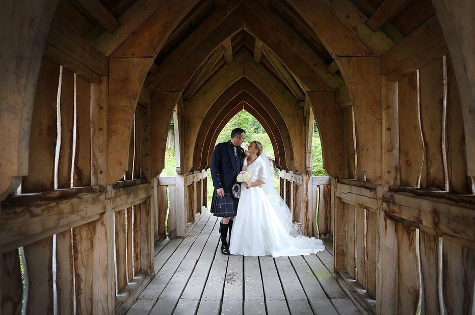 oak frame wedding