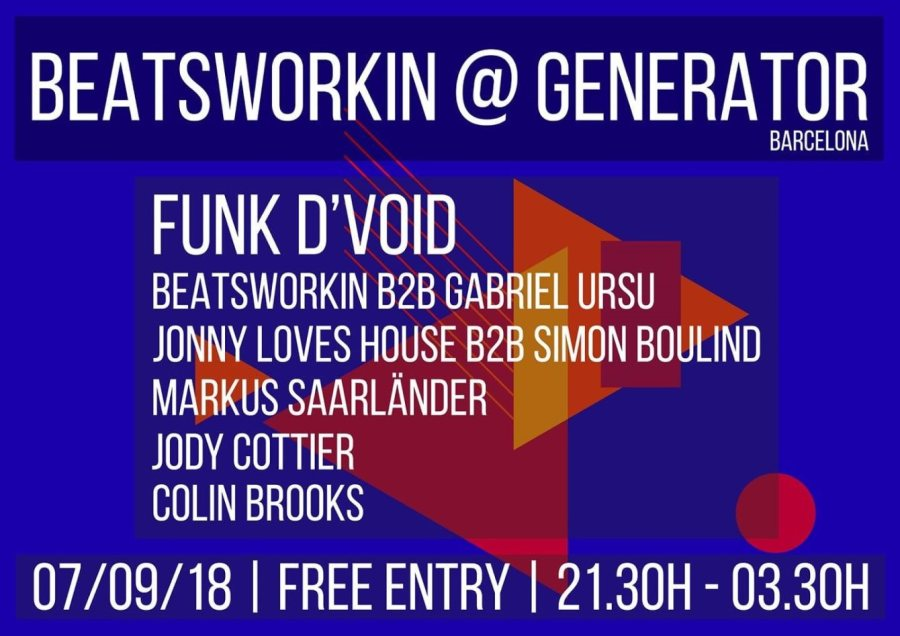 Beatsworkin at Generator X with Funk D'void