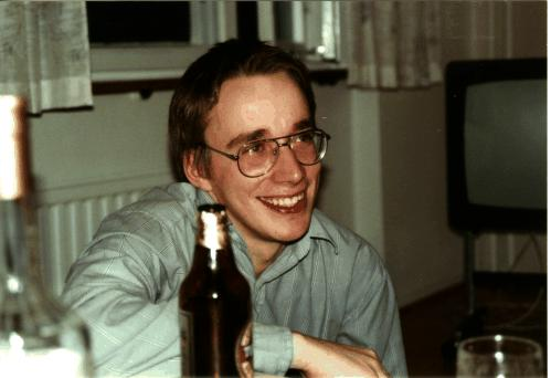 Young Linus Torvalds