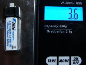 Eflite 120mAh Battery Weight for Eflite Blade mSR
