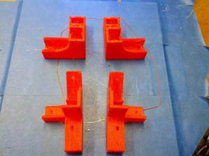 3D Printer Open Beam 1.4 Lower Frame Braces in PLA Complete
