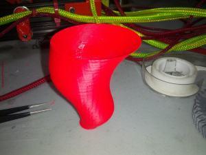 3D Printer Part - Red ABS Tornado