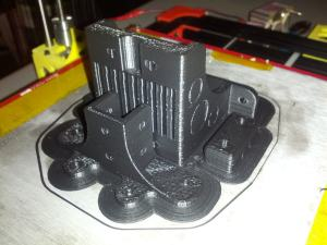 DIY 3D Printer Printing ABS Z-Motor Components for Cloned Printer