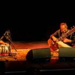 Samswara sitar & tabla duo at Swindon Arts Centre, Wiltshire. Photo: Kreetee S.