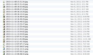 A Screenshot of my Camera Upload Directory