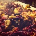 Southern style crawfish boil in Hollywood, CA.