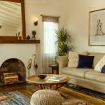 Vintage styled modern living room in Eagle Rock real estate
