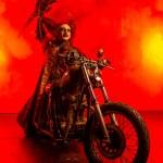dragula series winner vander von odd rides motorcycle in junker designs armor