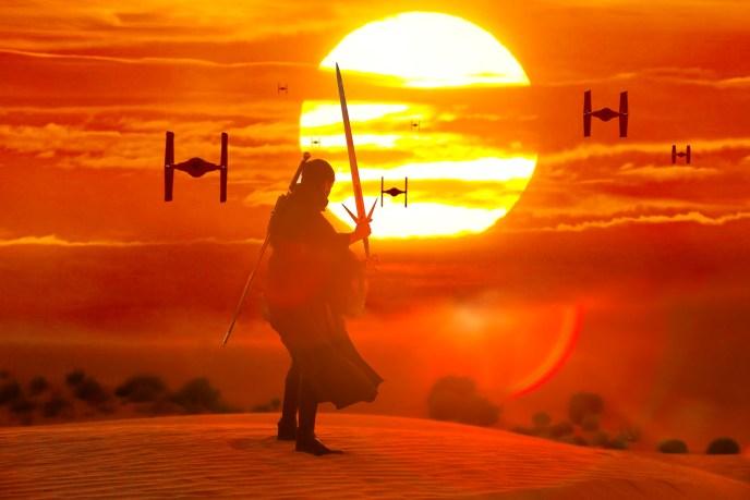 Star Wars cosplay digital art composite