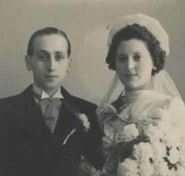 Huwelijk Philip Flesschedrager en Elisabeth Appelboom, 8 april 1942.
