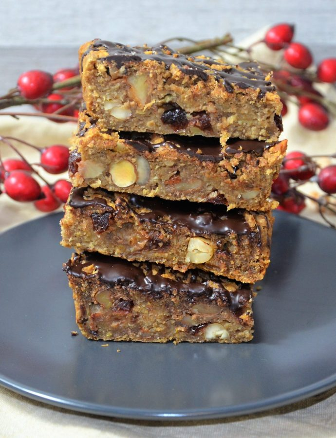 Vegane Kichererbsen Blondies mit Äpfel