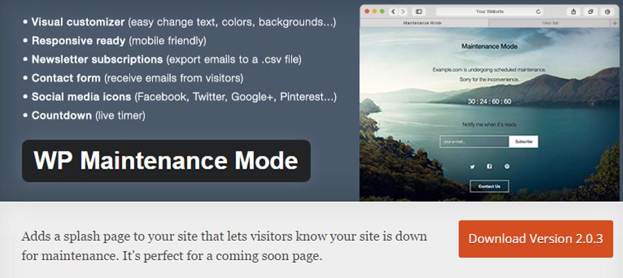 WP Maintenance Mode: per il tuo sito web in manutenzione
