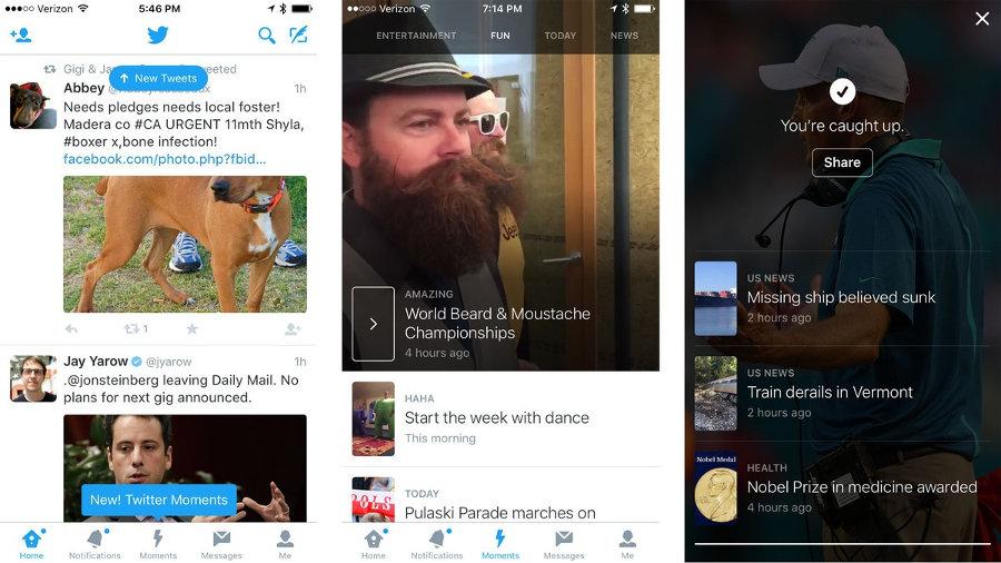 Twitter Moments: un mare di contenuti