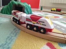 En plus des trains classiques, vous avez aussi des train électriques.