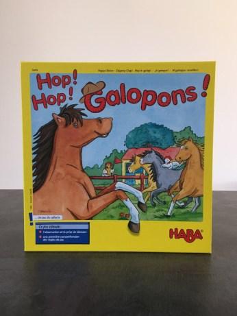 la boite du jeu de société Hop, hop, galopons