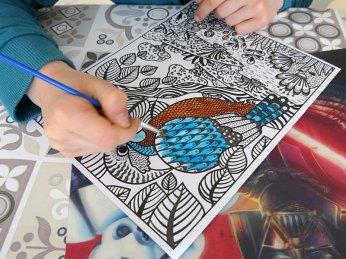 activité créative peinture