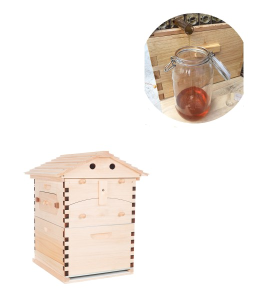 Automatic-langstroth-honey-flow-bee-hive-beehive-with-7-pcs-flow-frames