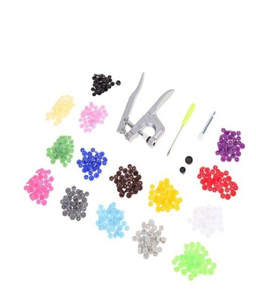 Plastic Snaps Hand Held Pliers Tool Set
