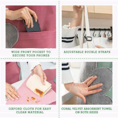 Kitchen Apron . Erasable Hand Waterproof Kitchen Apron
