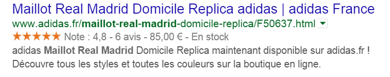exemple rich snippets real madrid