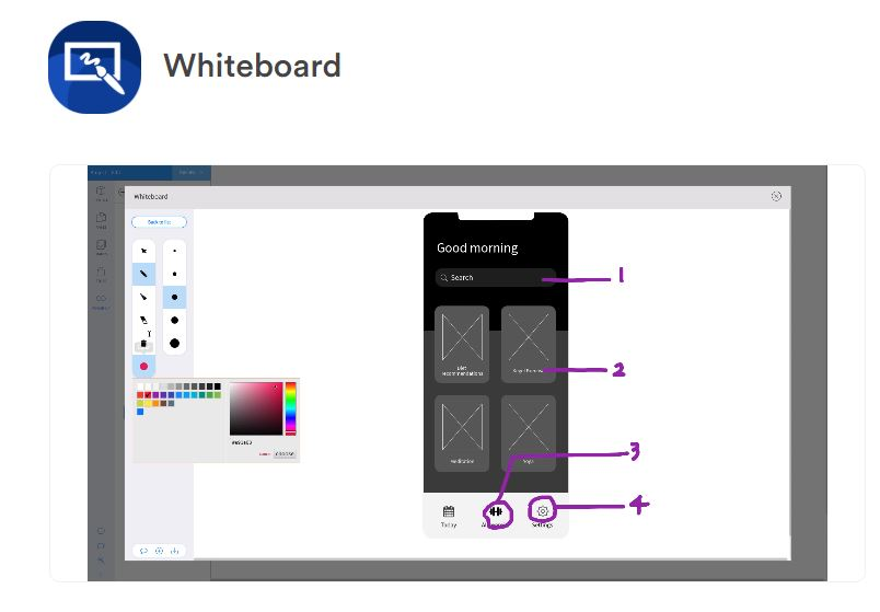 outil de zoning outil Whiteboard de Mockflow