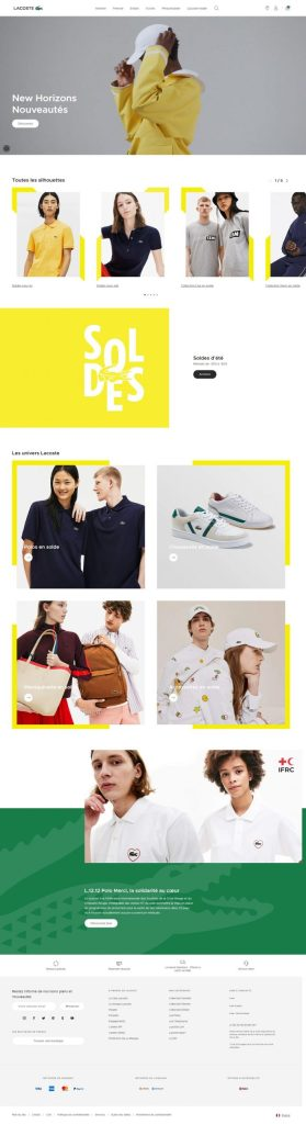 home page lacoste
