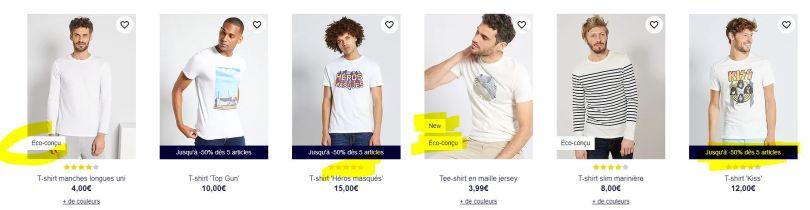 exemple picto merchandising kiabi