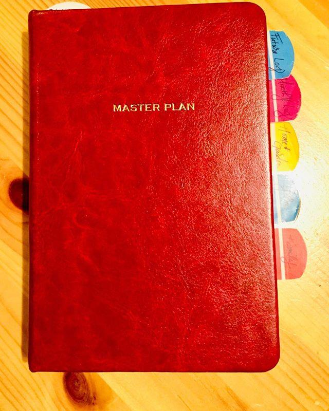 Red Master Plan Bullet Journal for Change