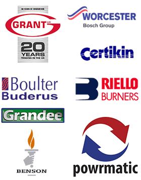 Grant, Worcester Bosch Group, Boulter Bunderus, Riello Burners, Grandee, Benson, Powrmatic