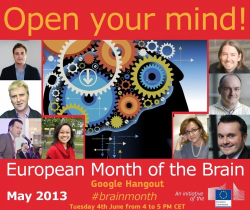 #brainmonth hangout poster