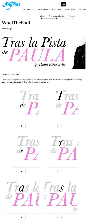 reconocedor de tipografias