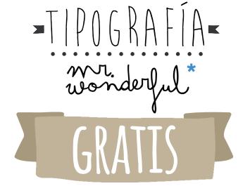 tipografia mr wonderful gratis