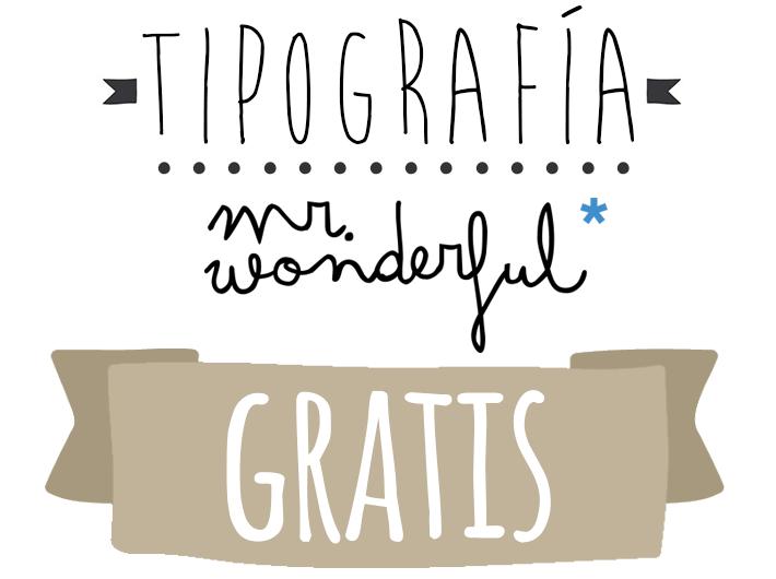 Tipografia mr wonderful gratis para tus propios dise os for Plantillas mr wonderful