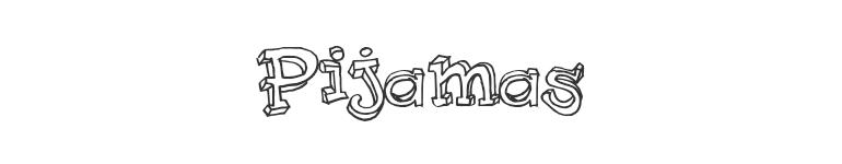 letras chulas para titulos pijamas