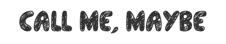 letras chulas para titulos call me maybe
