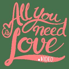 logos de videografos profesionales all you need is love