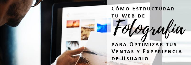 como estructurar tu web de fotografía