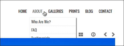 menu responsive desplegable