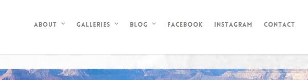 menu para wordpress con enlaces a redes sociales