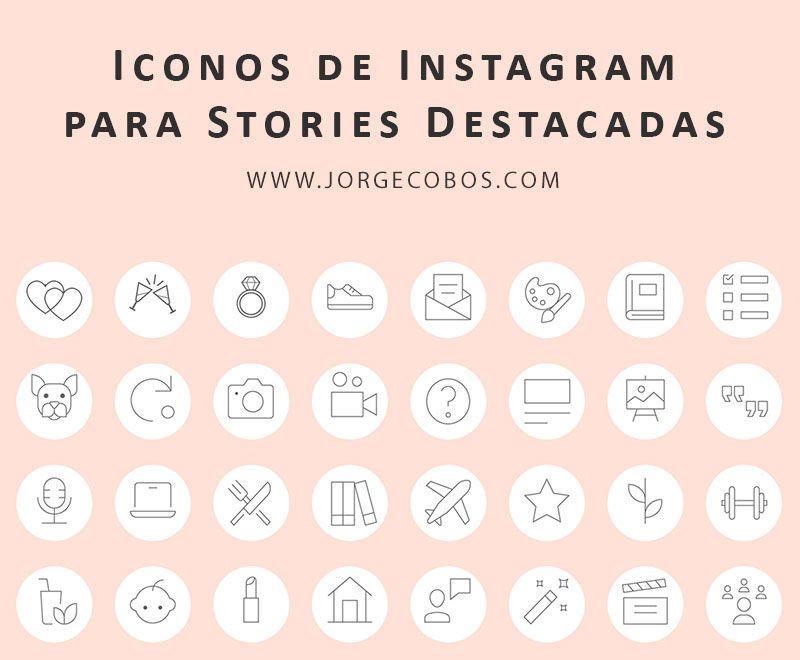 Descarga los Iconos para Historias destacadas de Instagram