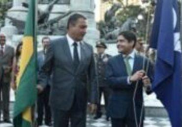 ACM Neto e Rui Costa participam de ato simbólico no Dois de Julho