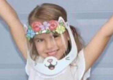 Máscaras alegres para crianças